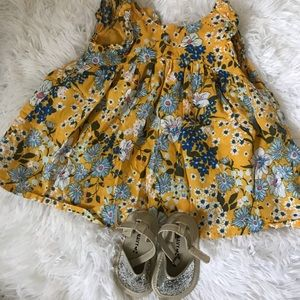 Yellow Floral Dress for Baby Girl